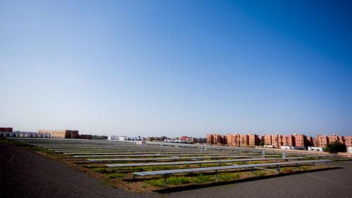 Centrale solaire tracker à Marrakech - Maroc