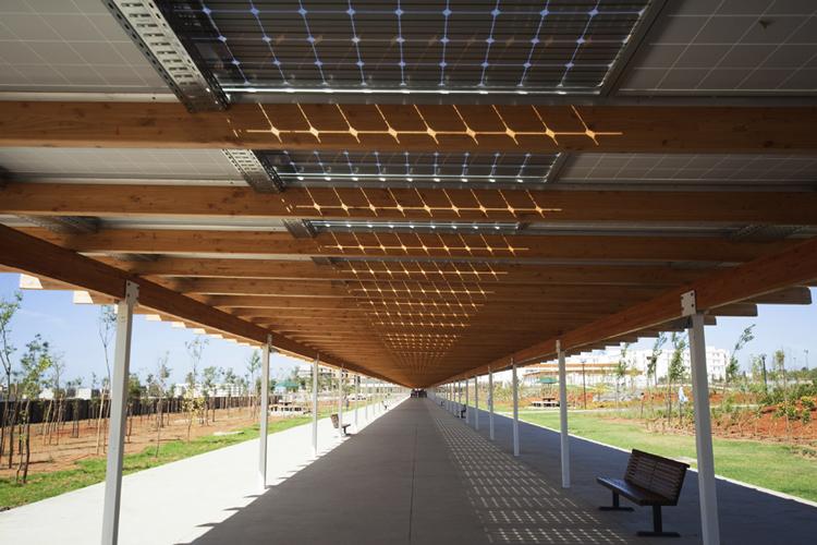 Solar aisle of the International University of Rabat - Morocco