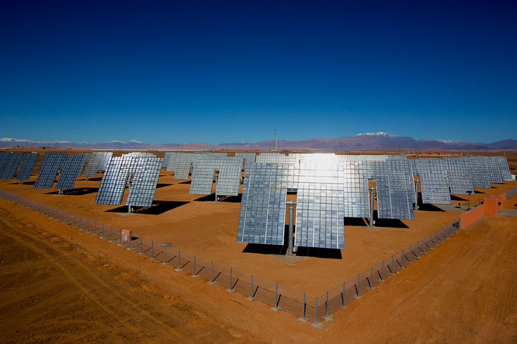Solar tracker power plant in Ouarzazate - Morocco