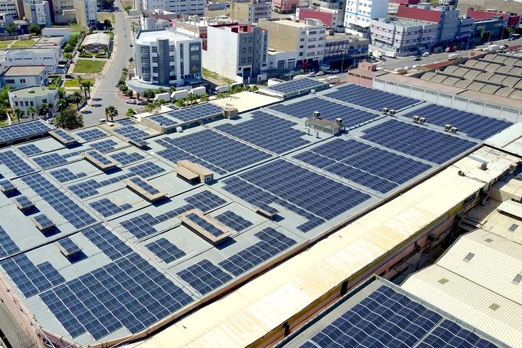 Centrale photovoltaïque installé au toiture de soft group