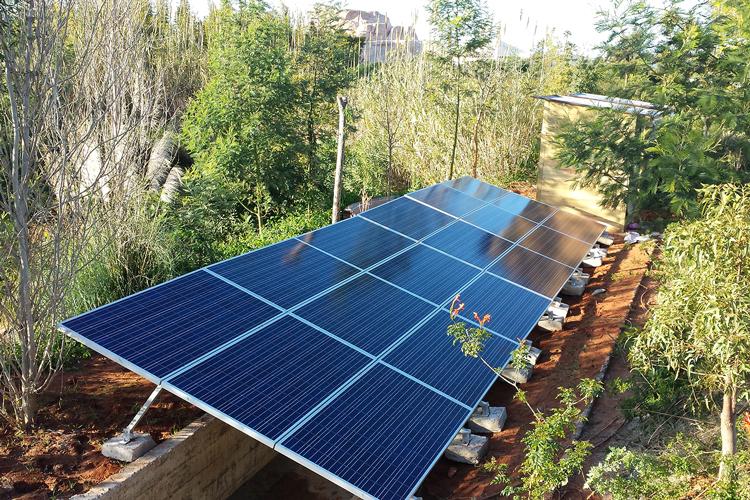 Centrale de pompage solaire pour le Zoo de Rabat