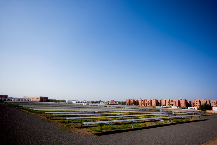 Solar tracker power plant in Marrakech - Morocco