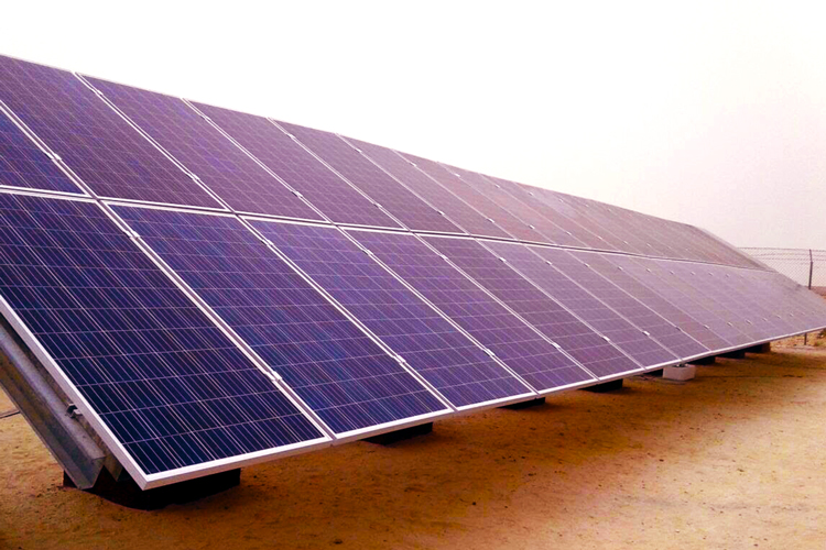 Centrale solaire au sol à Lamhiriz