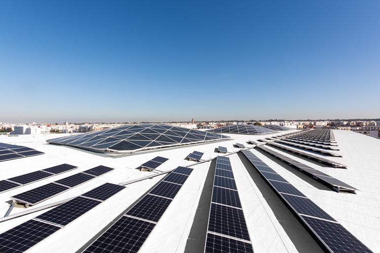 Rooftop solar plant at Rabat Agdal train station