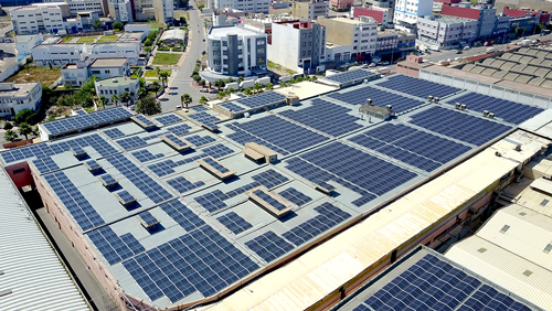 Photovoltaic power plant installed on the Soft Group roof