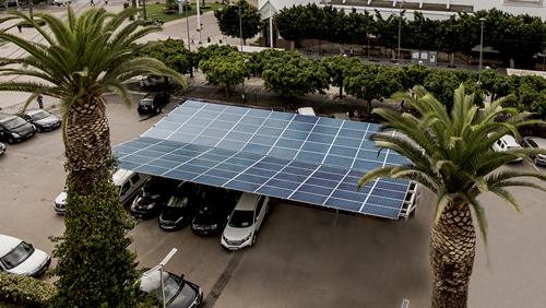 Ombrière Photovoltaïque du parking du centre régional de Rabat Salé Kénitra - Maroc